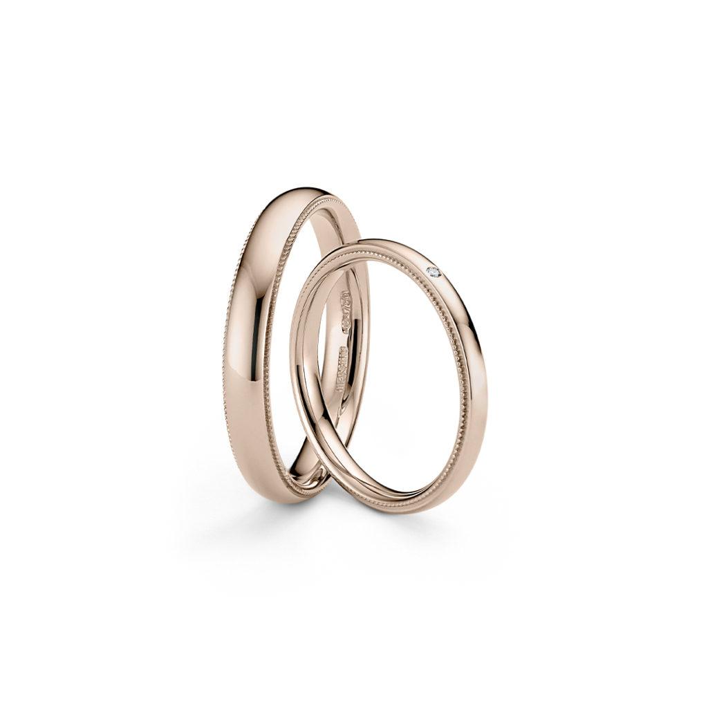 NIESSING ART DÉCO 結婚指輪 シンプル アンティーク ストレート ピンクゴールド