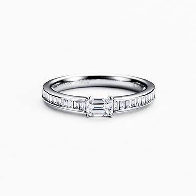 ORIZZONTE  婚約指輪 エレガント ストレート エタニティ プラチナ