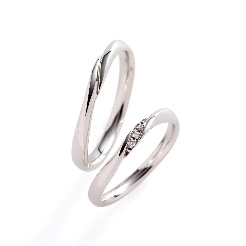 calm 結婚指輪 シンプル S字(ウェーブ) プラチナ