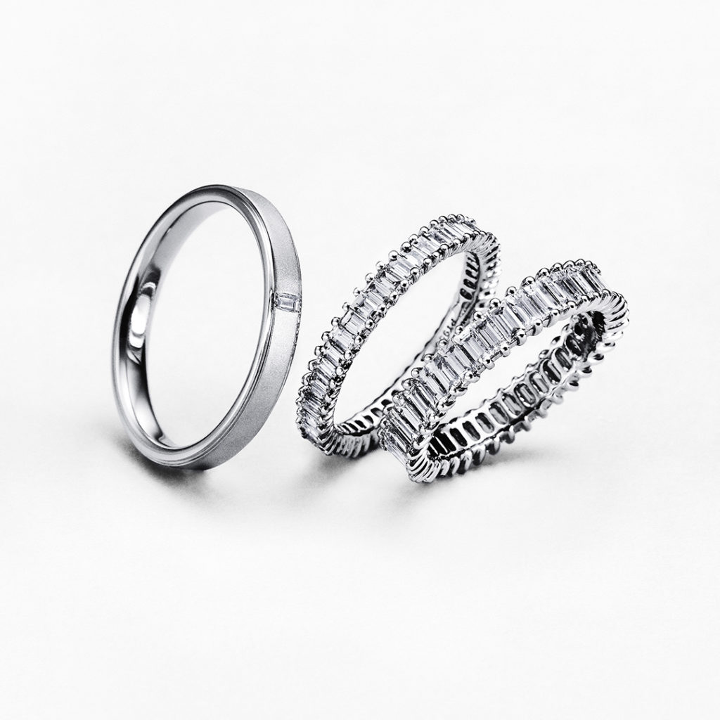 PLAGE 結婚指輪 シンプル ストレート エタニティ プラチナ