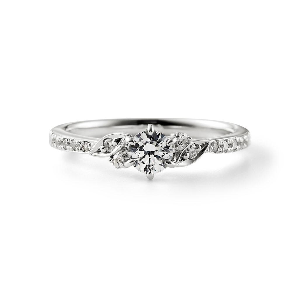 Sincerely 婚約指輪 シンプル エレガント アンティーク ストレート プラチナ
