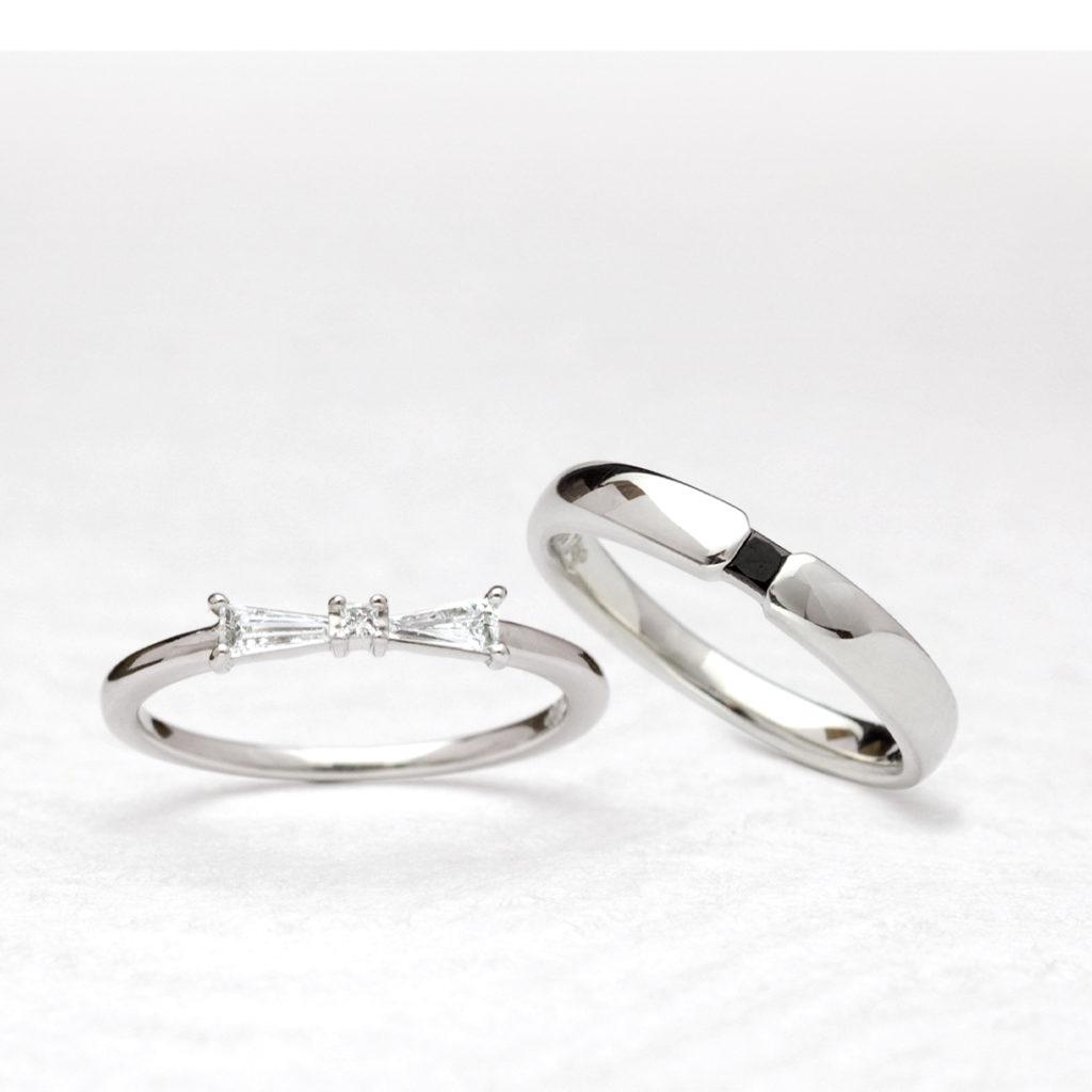 りぼん 結婚指輪 シンプル エレガント ストレート プラチナ