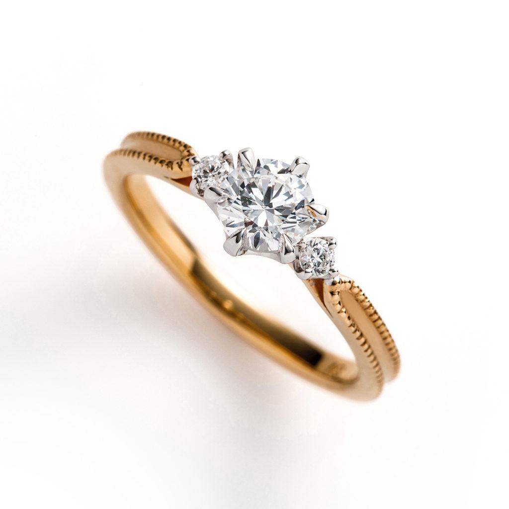 cerca 婚約指輪 キュート 個性派 ストレート イエローゴールド