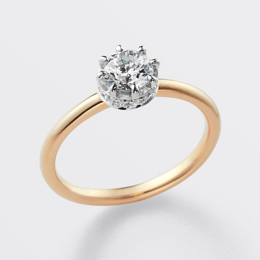 cercle 婚約指輪 シンプル ストレート イエローゴールド
