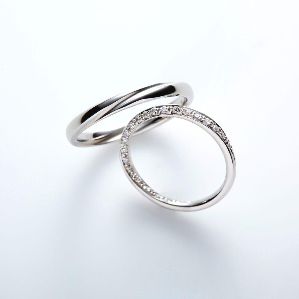 cercle 結婚指輪 シンプル エレガント ストレート エタニティ プラチナ