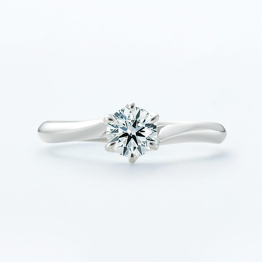 ceres 婚約指輪 シンプル エレガント S字(ウェーブ) プラチナ