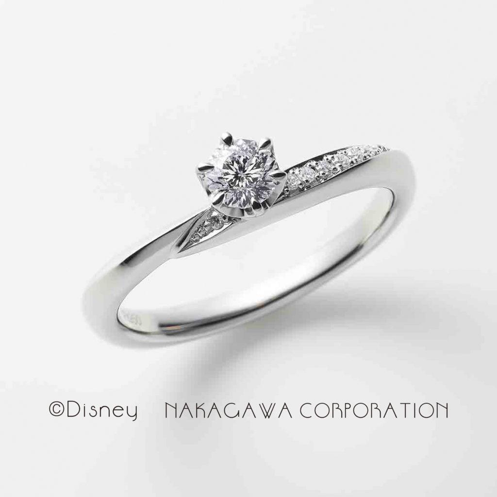 charm 婚約指輪 シンプル エレガント キュート V字(ウェーブ) プラチナ