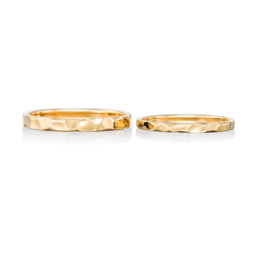 chemin 結婚指輪 アンティーク 個性派 ストレート イエローゴールド
