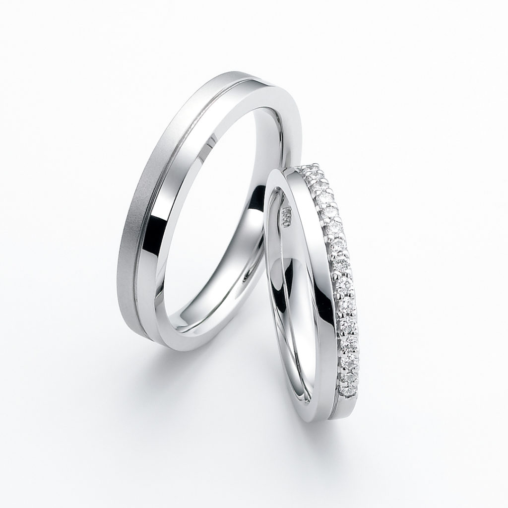 chemin-シュマン- 結婚指輪 エレガント ストレート パラジウム