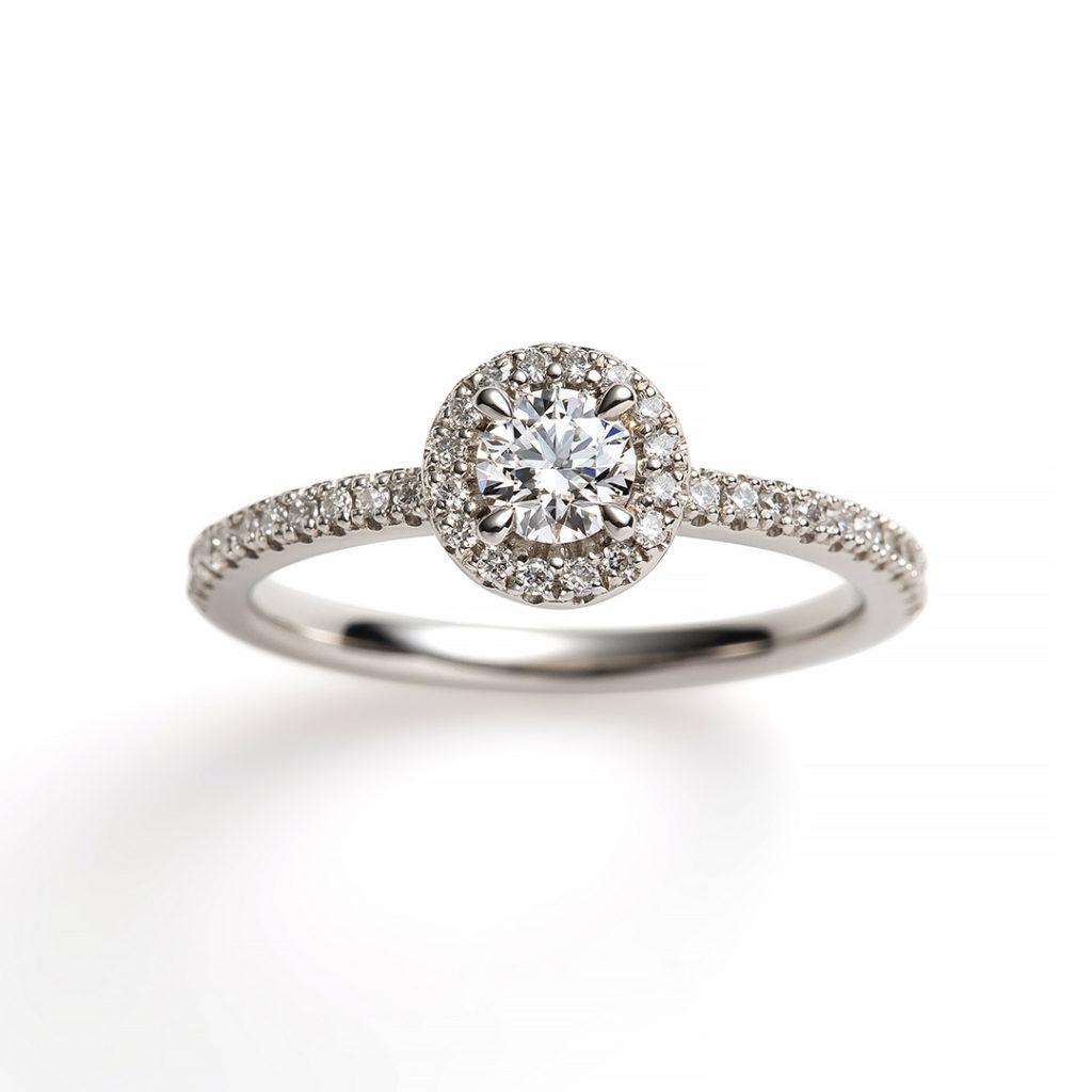 ciottolo 婚約指輪 エレガント 個性派 ストレート エタニティ プラチナ