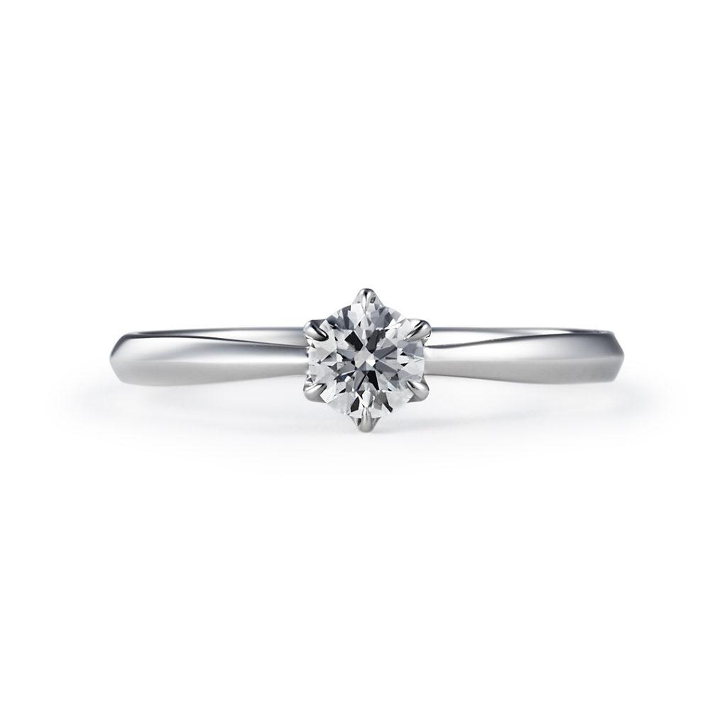 COMPROMISSO 婚約指輪 シンプル エレガント ストレート プラチナ