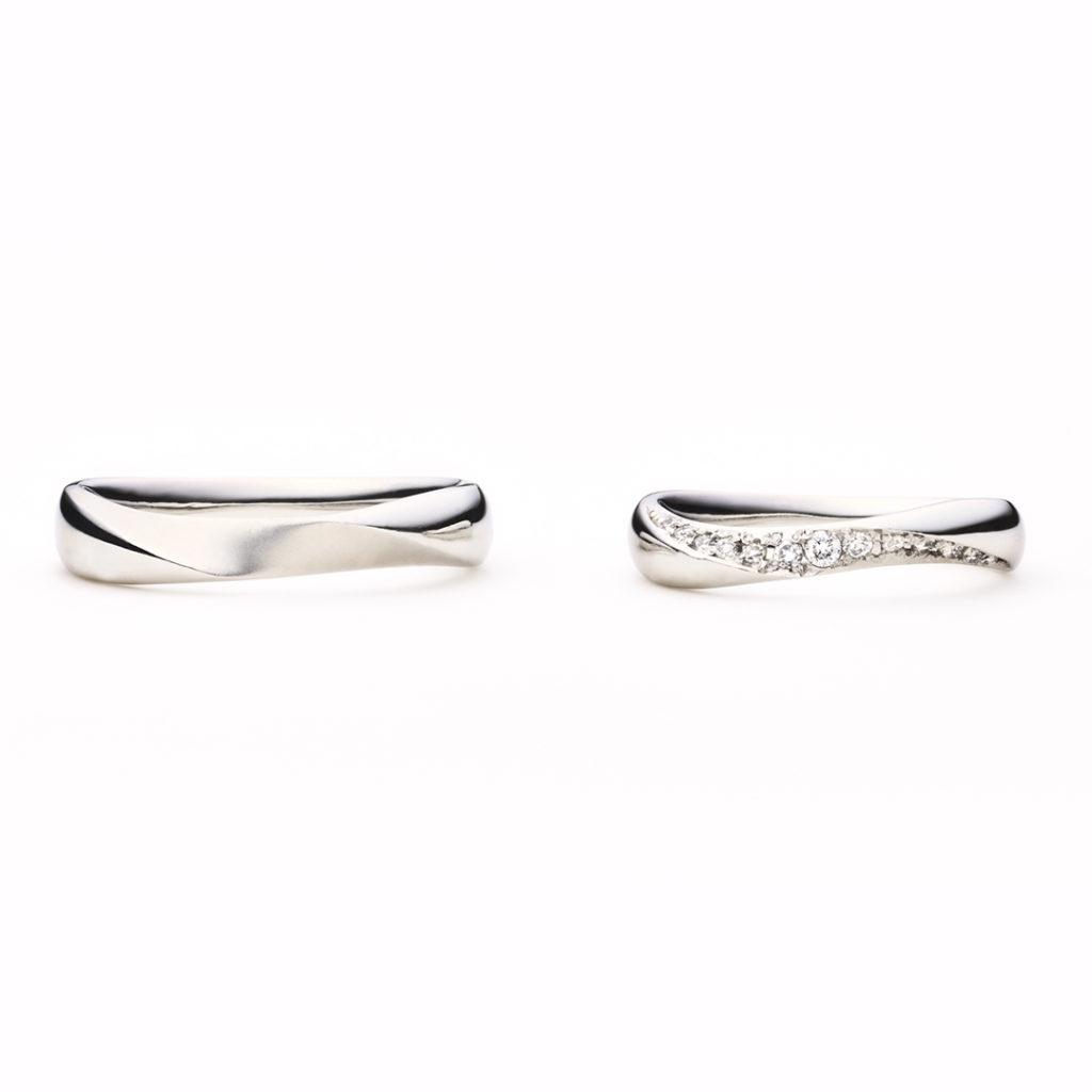 créme d'ange 結婚指輪 エレガント S字(ウェーブ) プラチナ