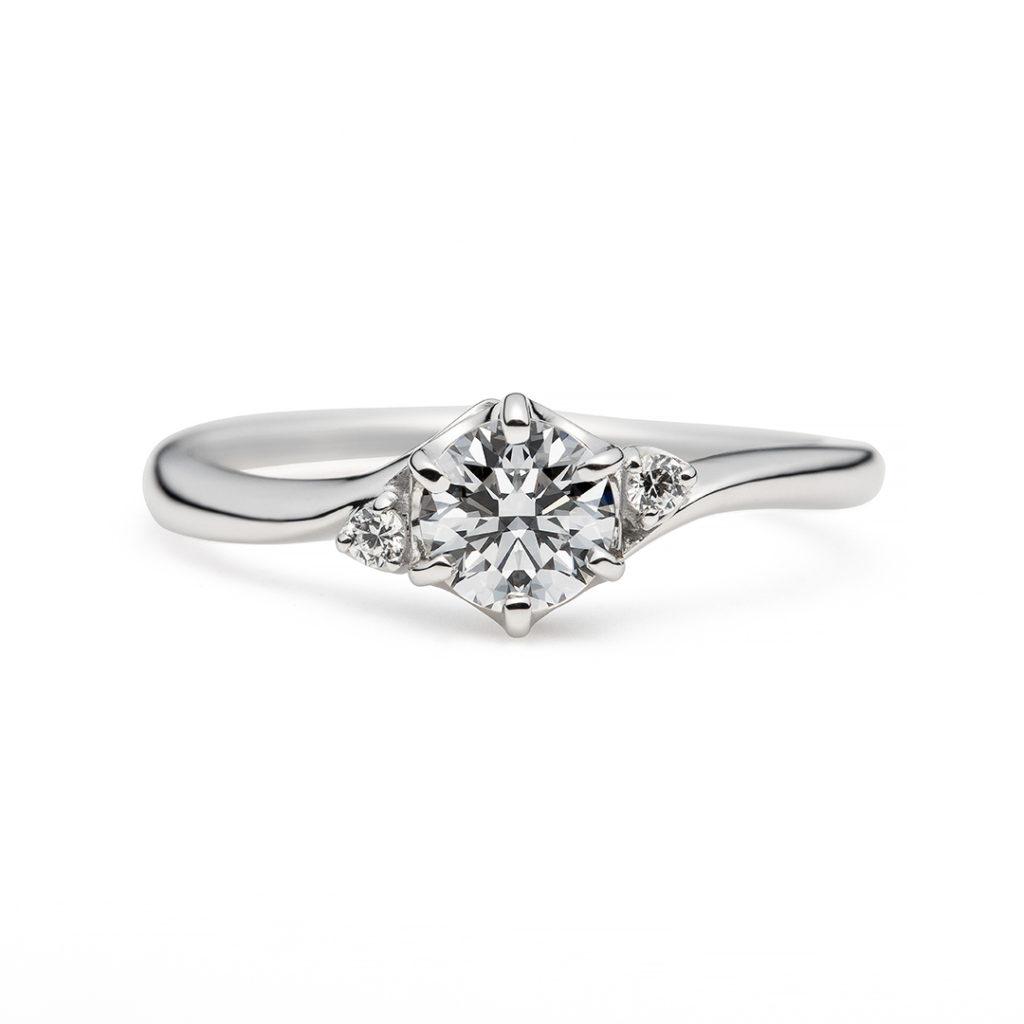 cygne 婚約指輪 シンプル S字(ウェーブ) プラチナ