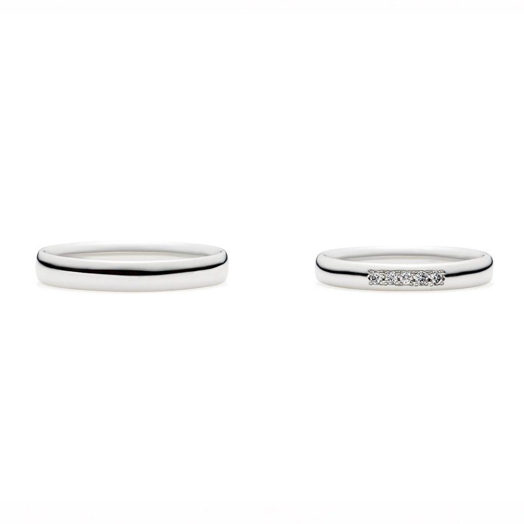 pudding 結婚指輪 シンプル キュート ストレート プラチナ
