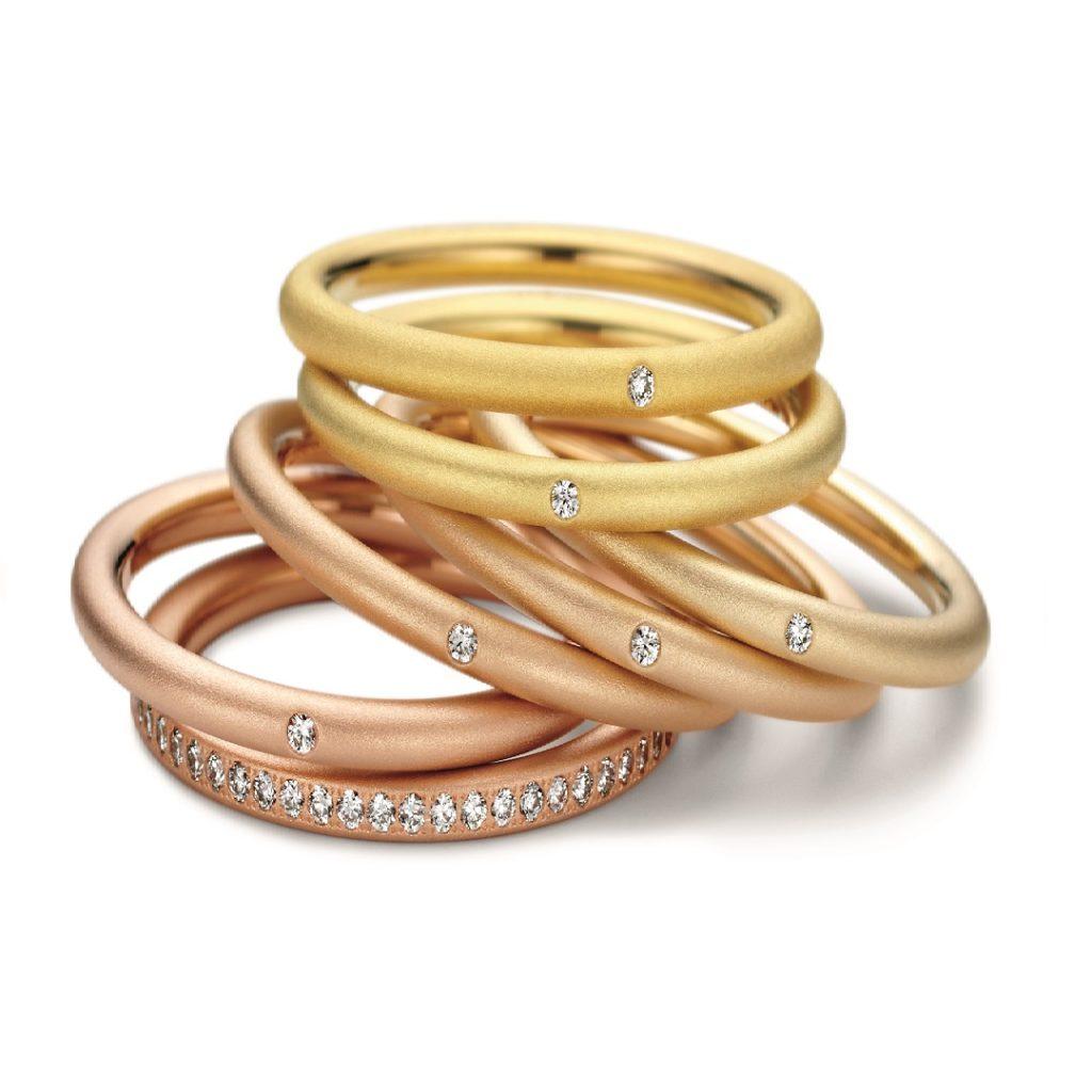 NIESSING COLOR RINGS 結婚指輪 シンプル ストレート エタニティ