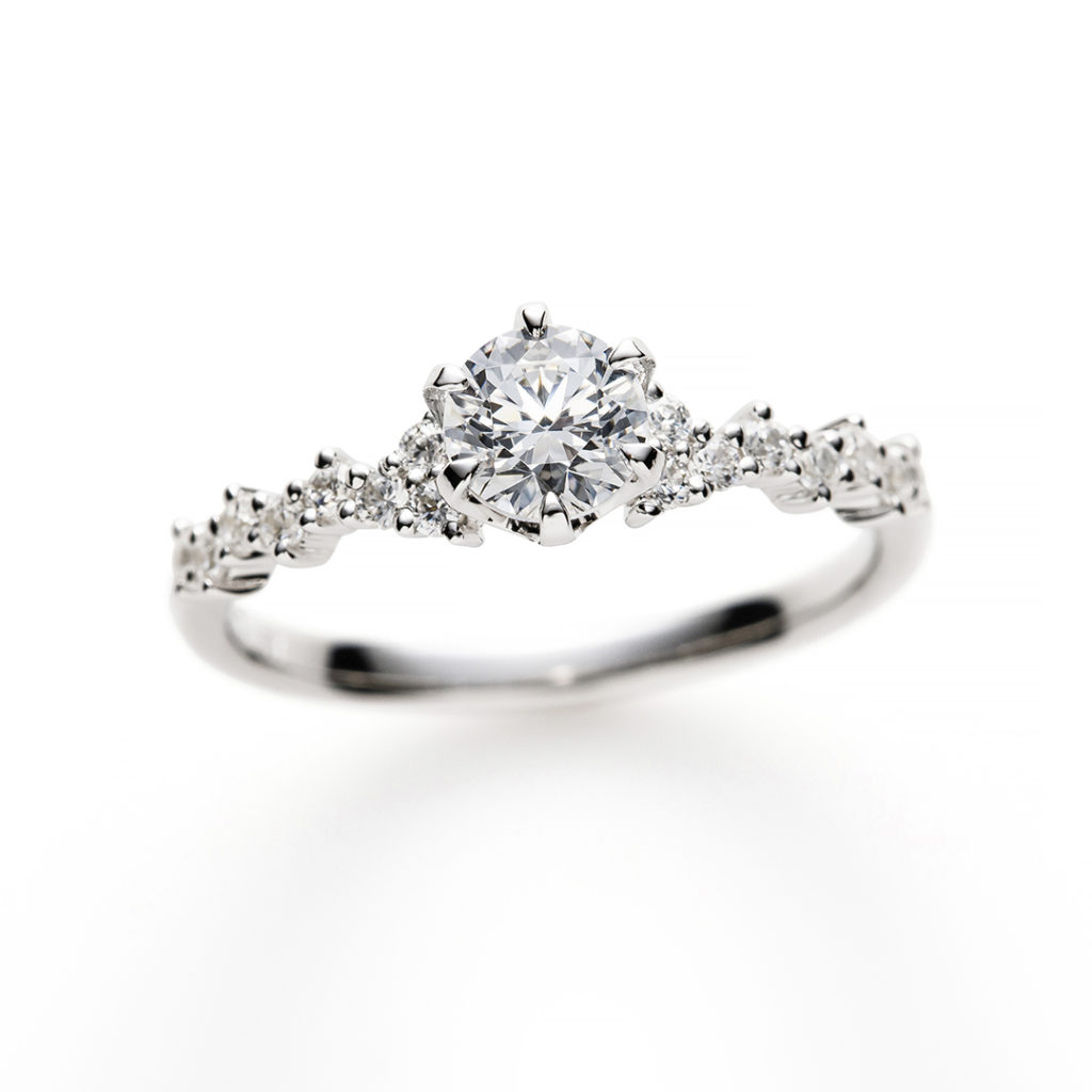 Diamond Fizz 婚約指輪 キュート 個性派 ストレート プラチナ