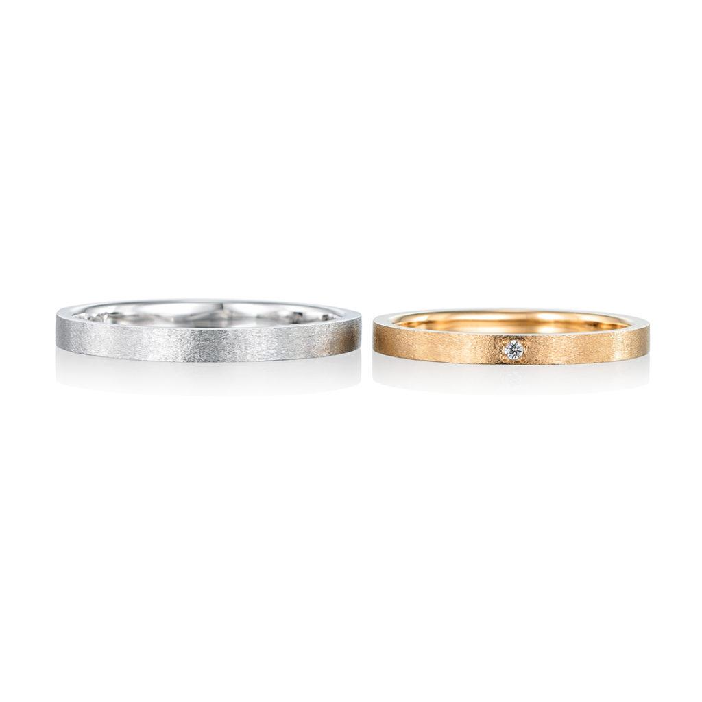 doux 結婚指輪 アンティーク ストレート イエローゴールド ホワイトゴールド