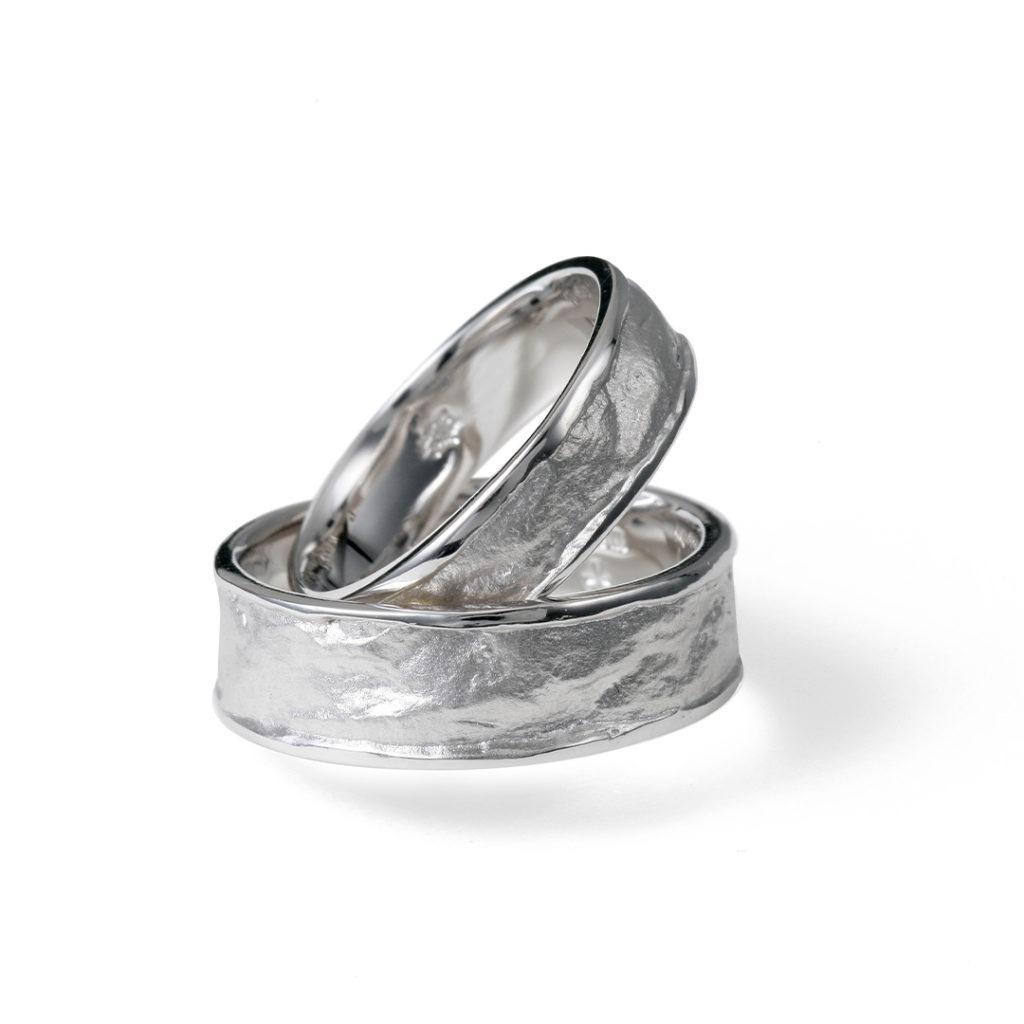 蛍灯 - Honoka - 燈 Tomoshibi 結婚指輪 個性派 ストレート 幅広 プラチナ