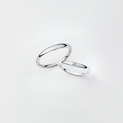tiédeur 結婚指輪 シンプル V字(ウェーブ) プラチナ