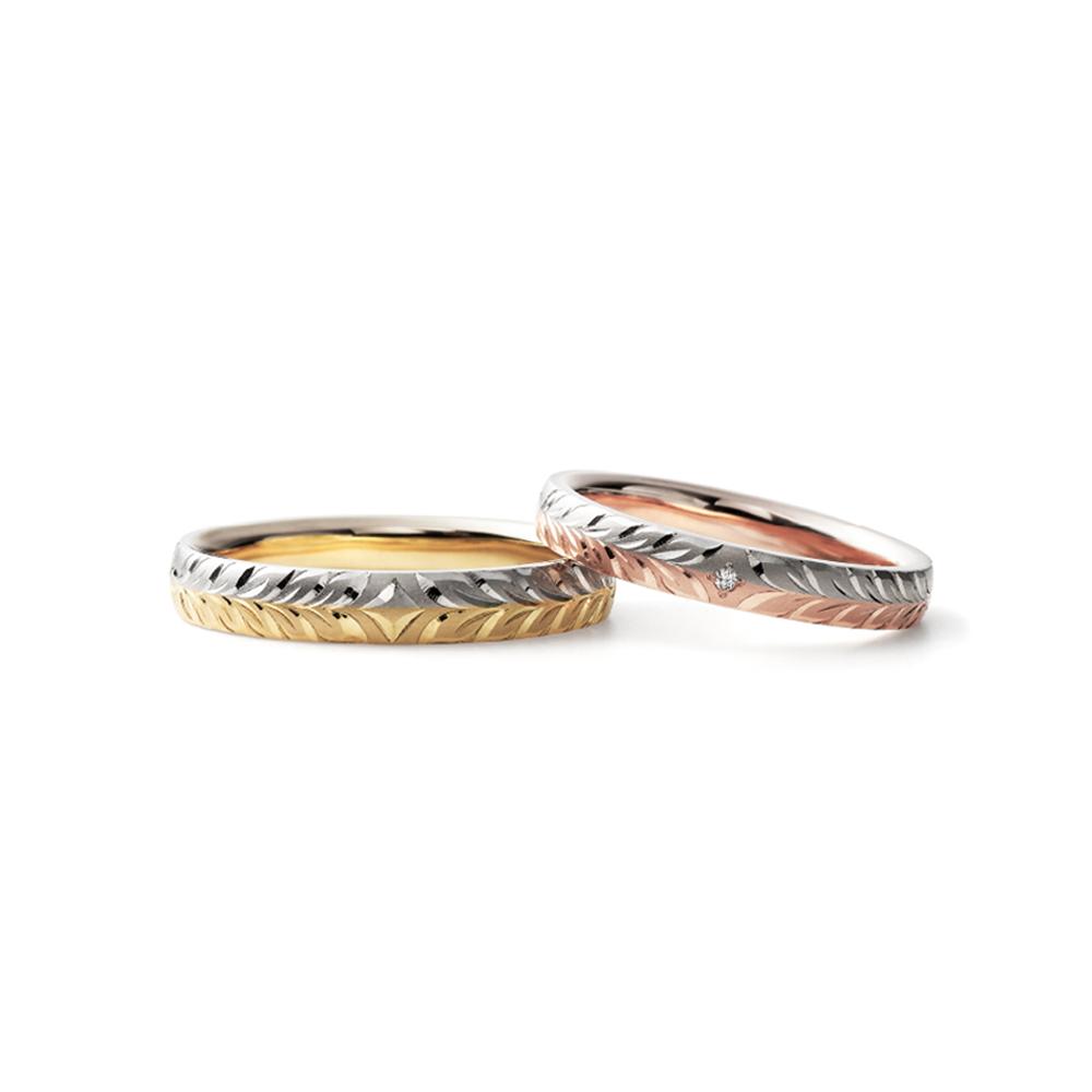 GEKKEIJU 結婚指輪 個性派 ストレート コンビ