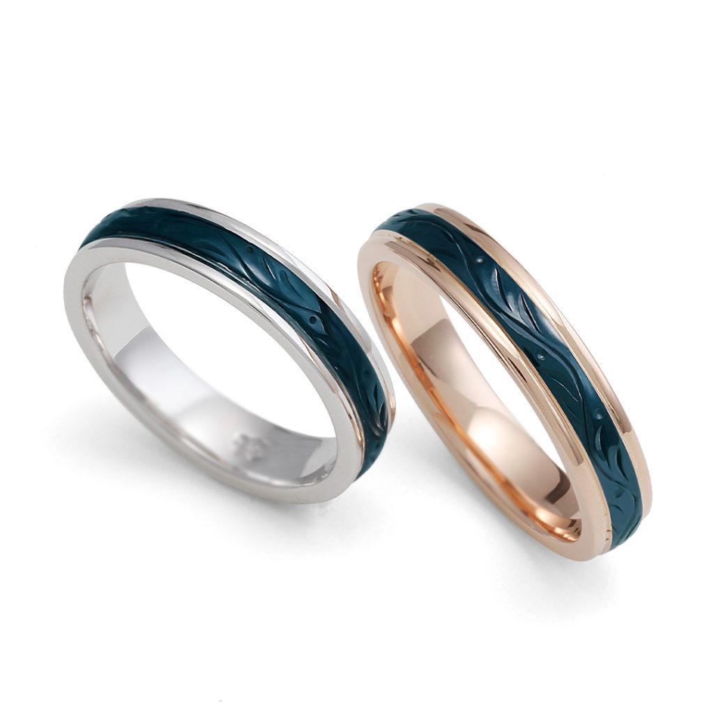 永遠 - Towa - 黎 Rei 結婚指輪 個性派 ストレート プラチナ ピンクゴールド コンビ
