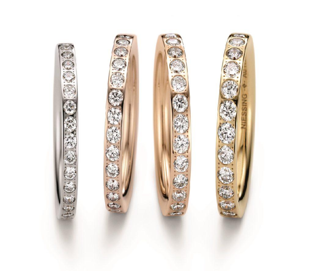 NIESSING SATELLITE 結婚指輪 シンプル ストレート エタニティ プラチナ