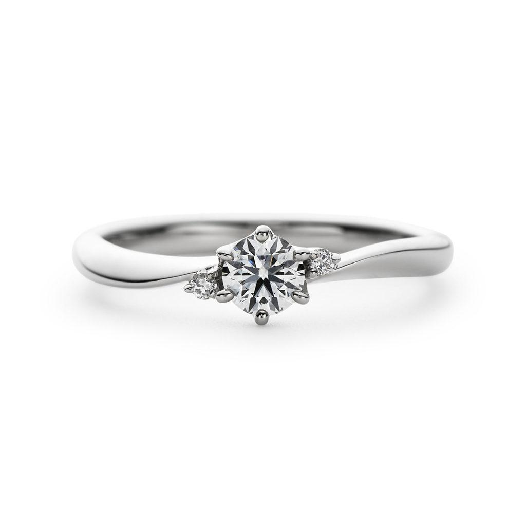Fontaine 婚約指輪 エレガント アンティーク S字(ウェーブ) プラチナ
