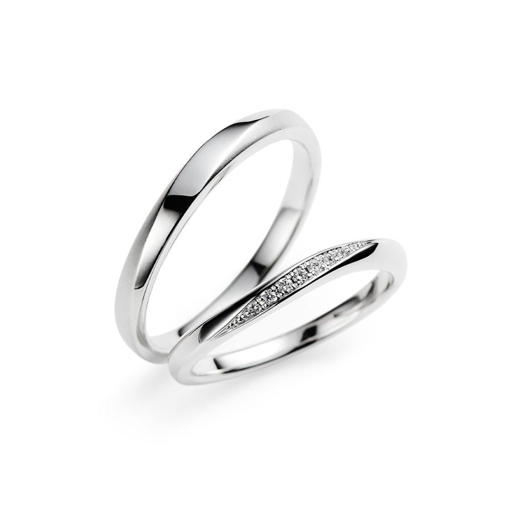Fontaine 結婚指輪 シンプル S字(ウェーブ) プラチナ