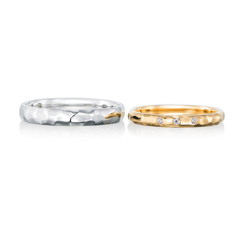 gentillesse 結婚指輪 アンティーク 個性派 ストレート イエローゴールド ホワイトゴールド