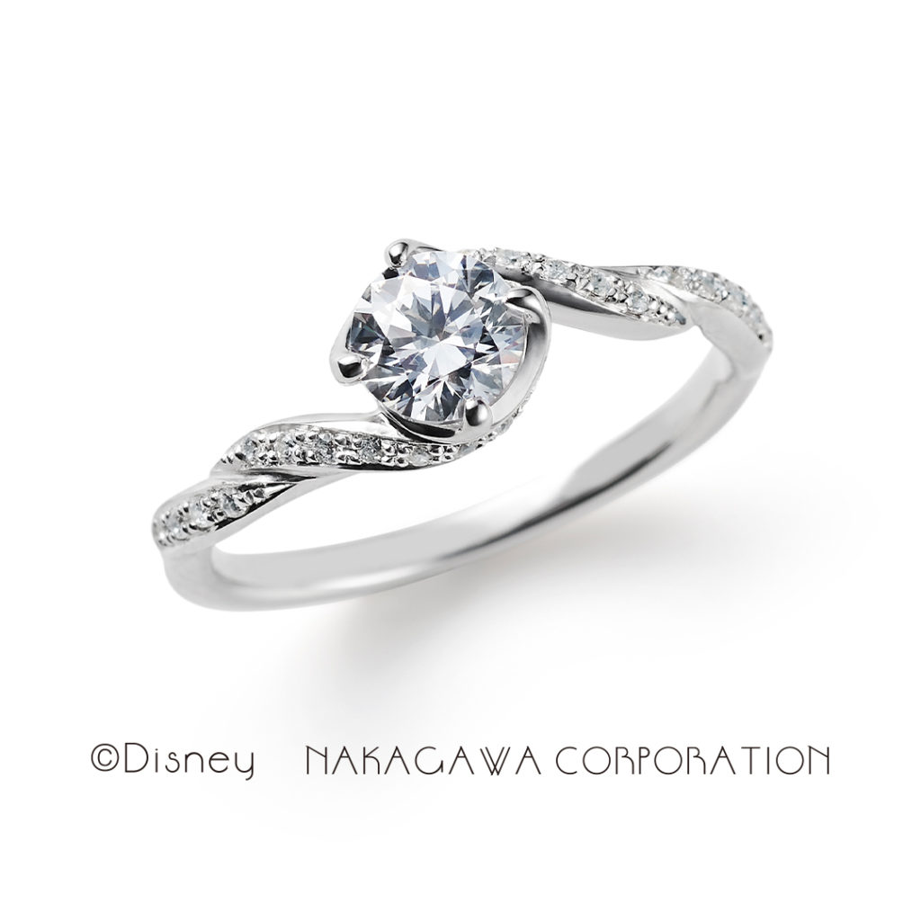 gentle heart 婚約指輪 シンプル キュート 個性派 S字(ウェーブ) プラチナ