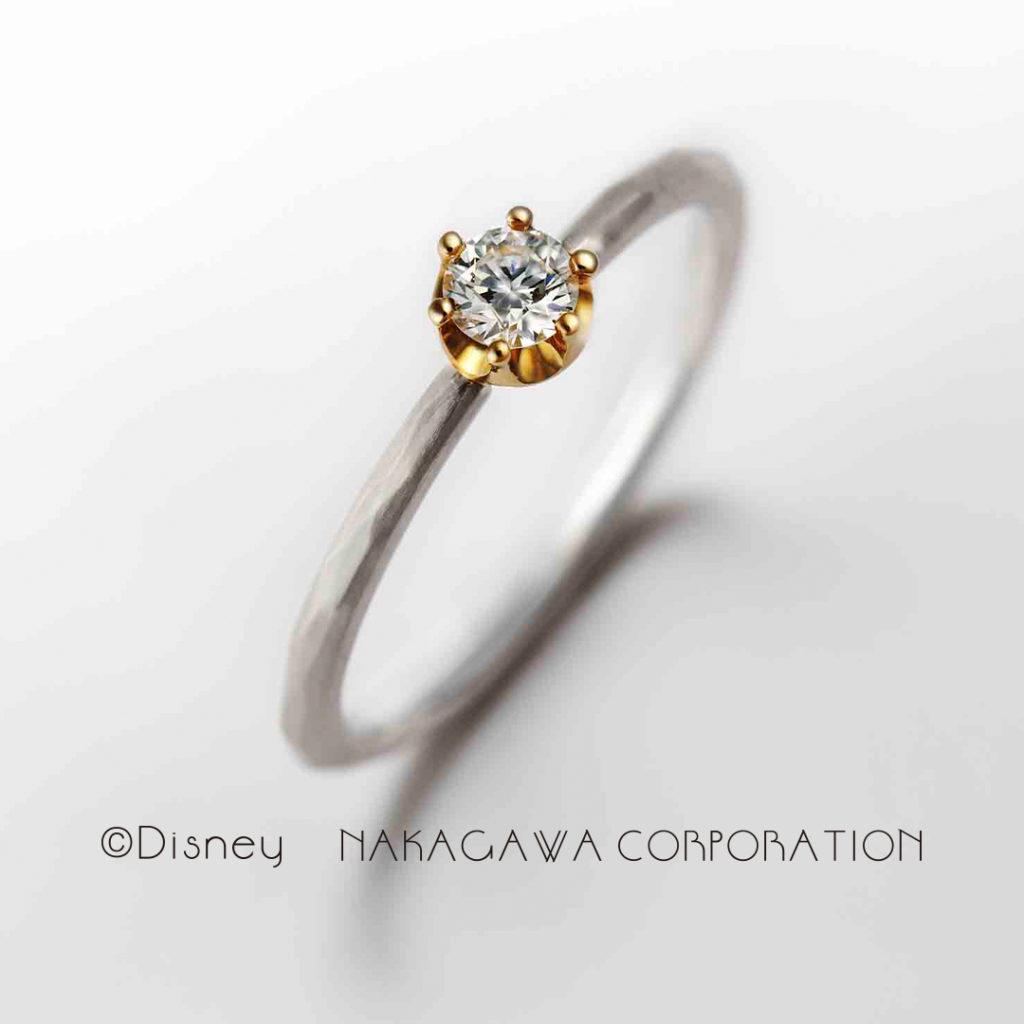 hearty ring 婚約指輪 アンティーク 個性派 ストレート プラチナ コンビ