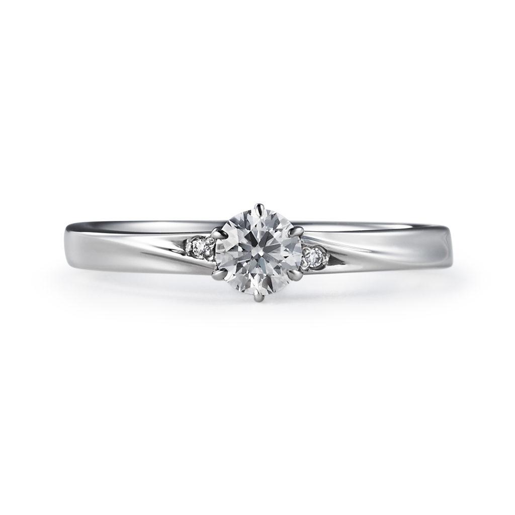 HESPOSTA 婚約指輪 シンプル ストレート プラチナ