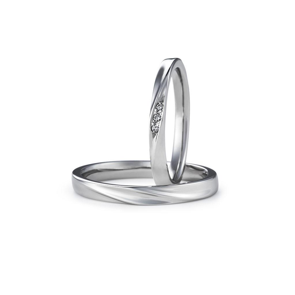 HESPOSTA 結婚指輪 シンプル ストレート プラチナ