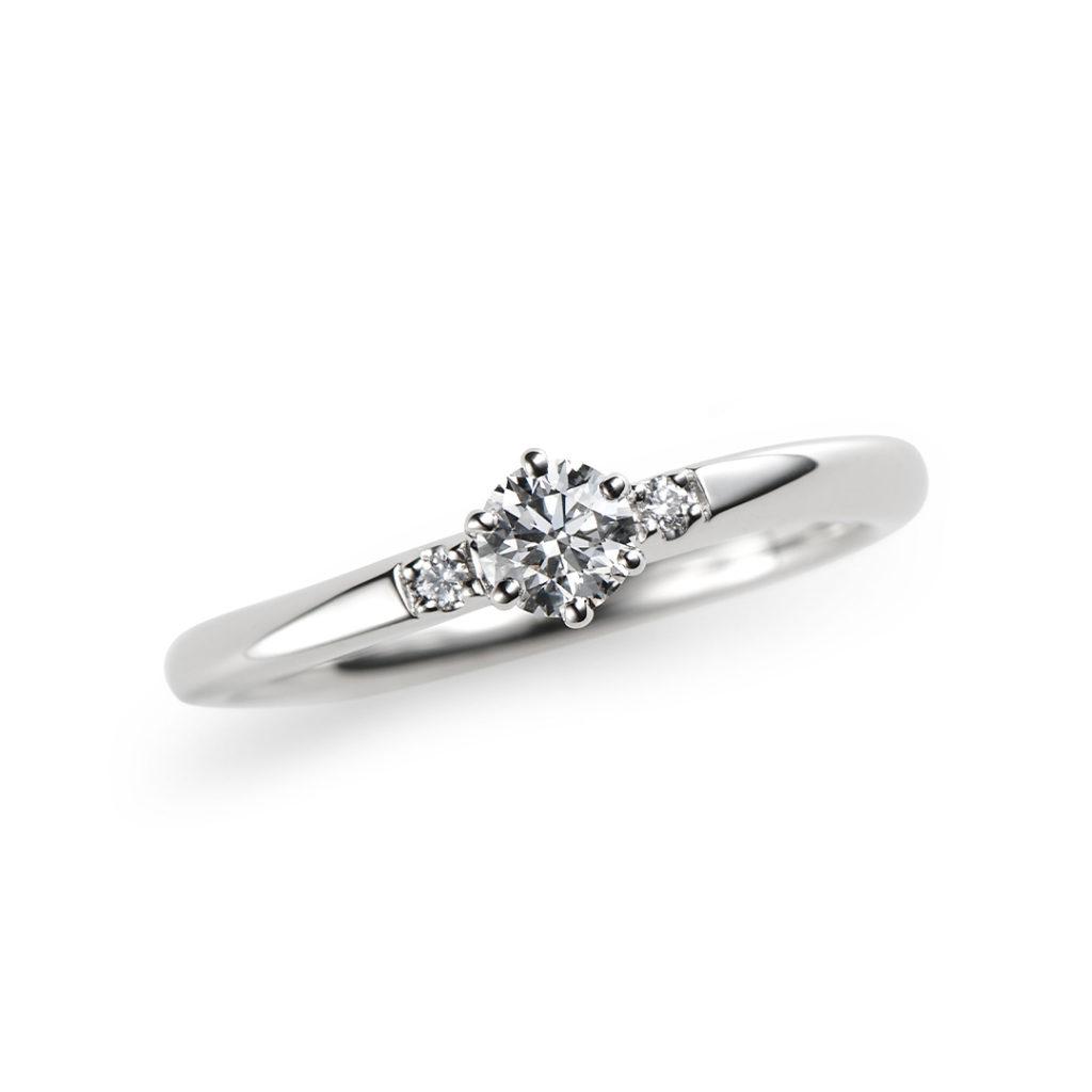 星月夜 婚約指輪 シンプル S字(ウェーブ) プラチナ