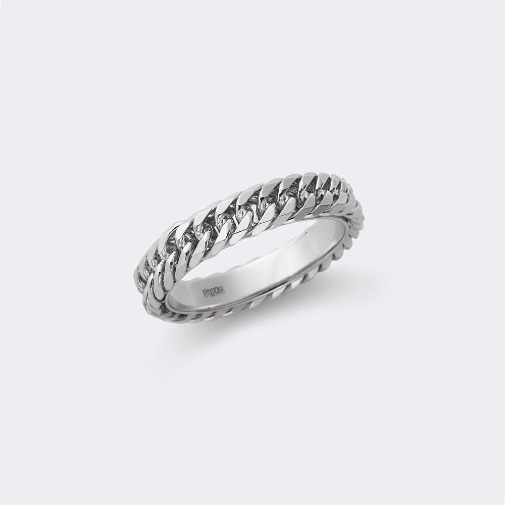 喜平リング 結婚指輪 個性派 ストレート 幅広 プラチナ