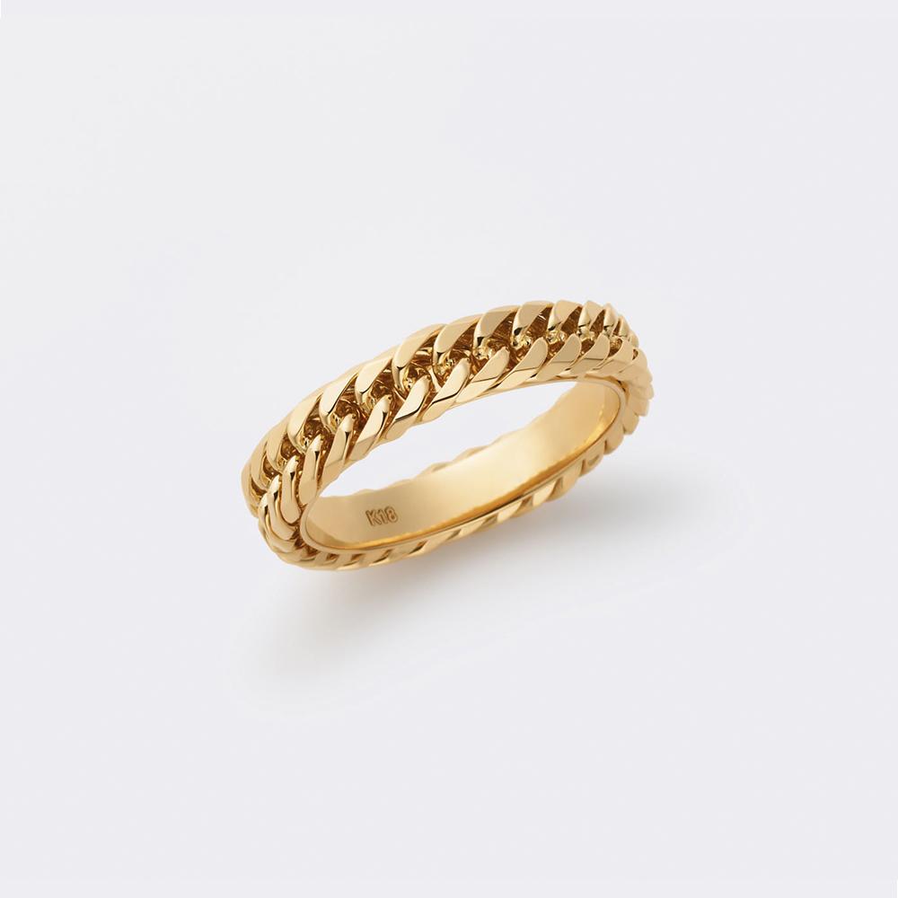 喜平リング 結婚指輪 個性派 ストレート 幅広 イエローゴールド