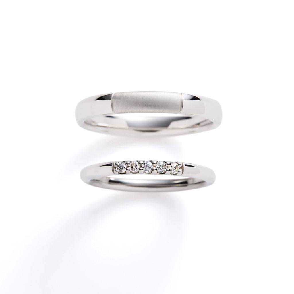 luccica 結婚指輪 シンプル ストレート プラチナ