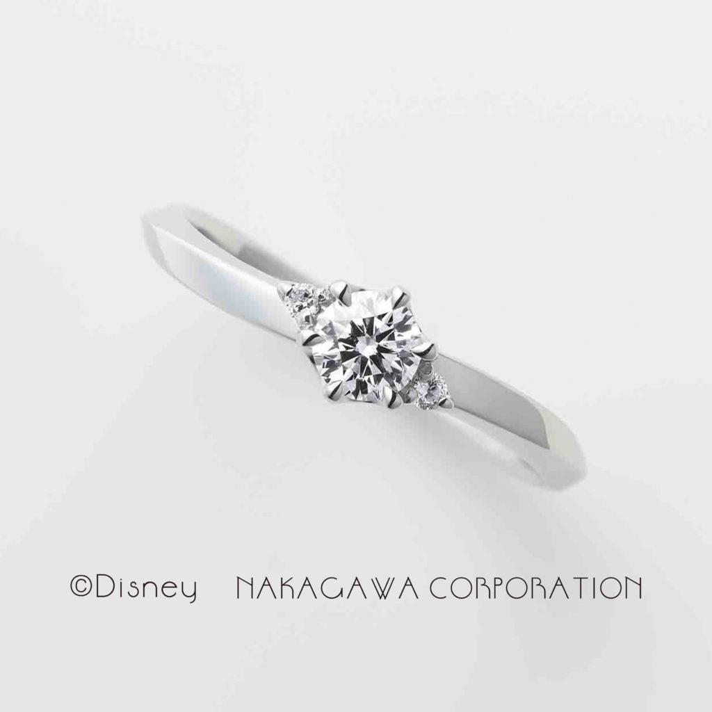 magic fairy 婚約指輪 シンプル キュート S字(ウェーブ) プラチナ