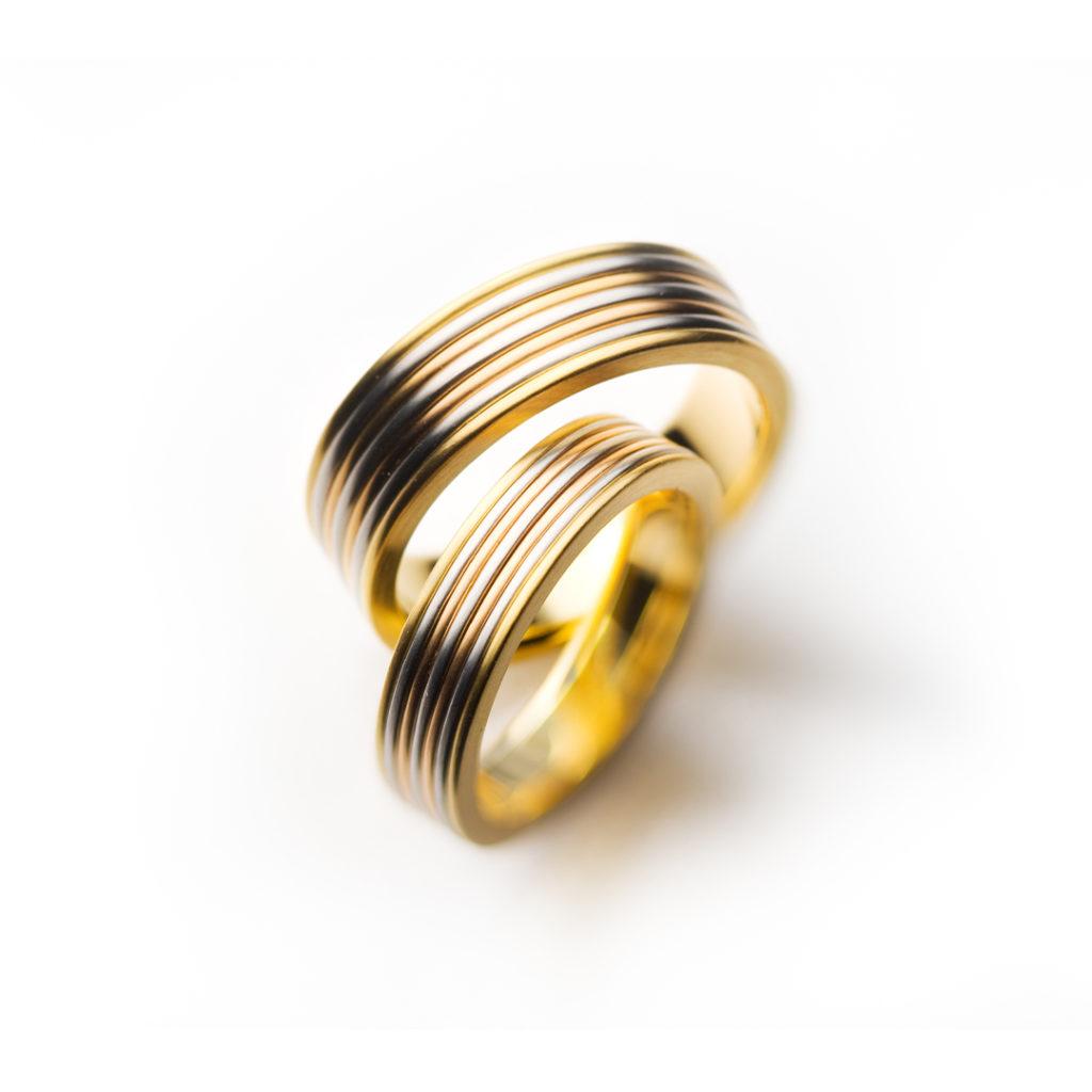 mille feuille 結婚指輪 アンティーク 個性派 ストレート 幅広 プラチナ イエローゴールド ピンクゴールド コンビ