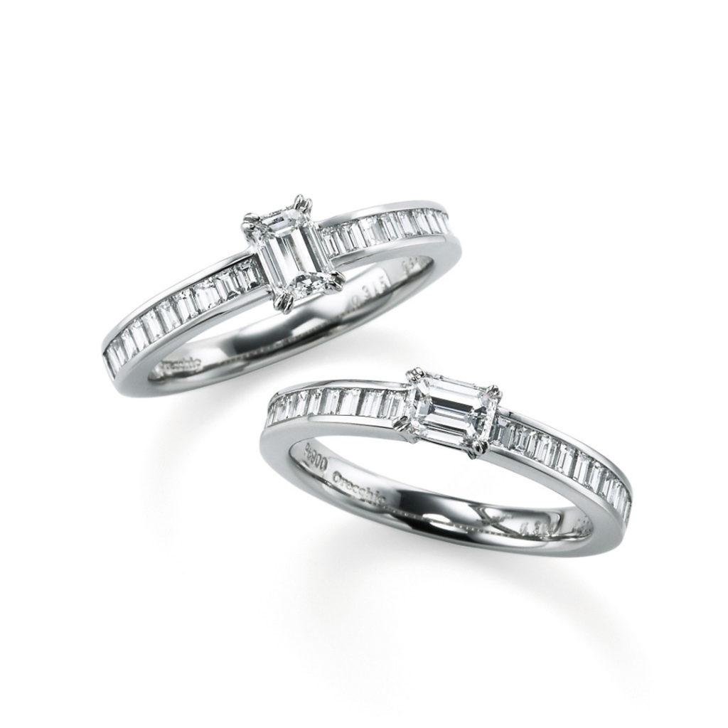 monaco 婚約指輪 エレガント アンティーク ストレート エタニティ プラチナ