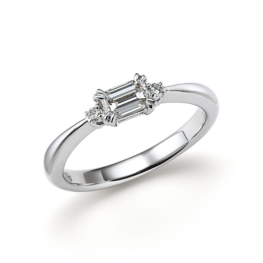 pipi 婚約指輪 エレガント アンティーク ストレート プラチナ