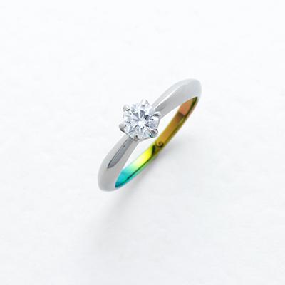 PLEIA  婚約指輪 シンプル エレガント 個性派 S字(ウェーブ) 幅広 ジルコニウム