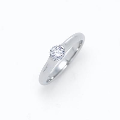 PLU 婚約指輪 シンプル ストレート ジルコニウム