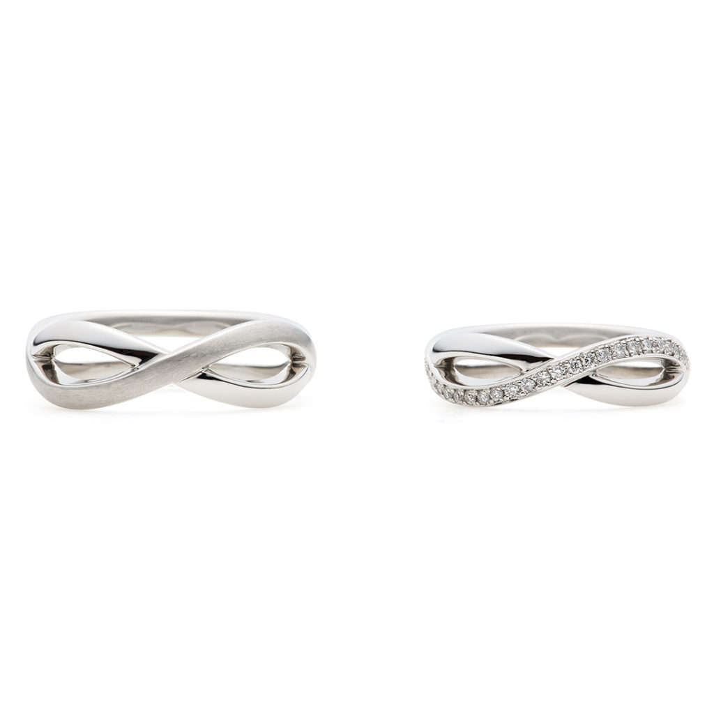 pont-neuf 結婚指輪 エレガント 個性派 S字(ウェーブ) 幅広 プラチナ