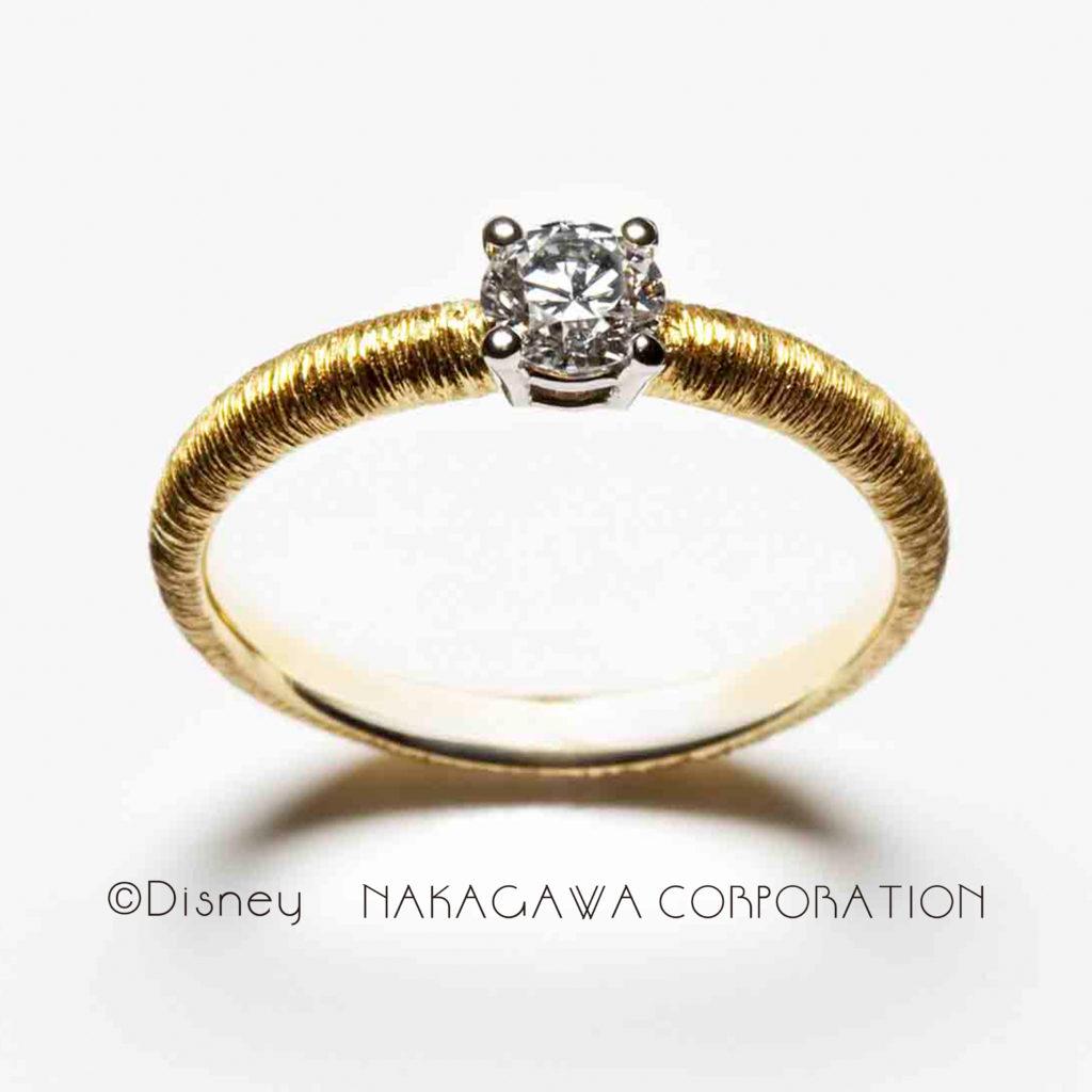 princess aurora 婚約指輪 シンプル アンティーク 個性派 ストレート イエローゴールド