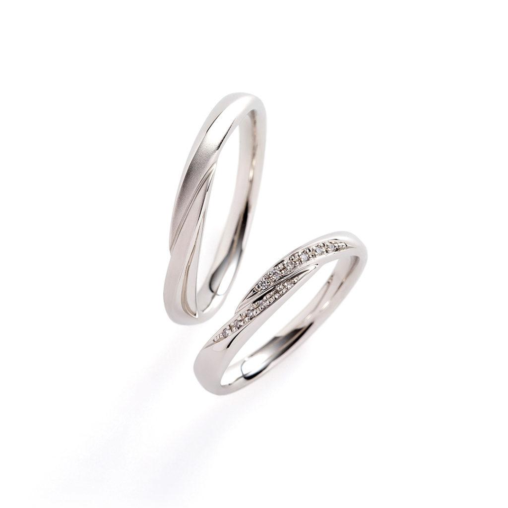 racine 結婚指輪 シンプル S字(ウェーブ) プラチナ
