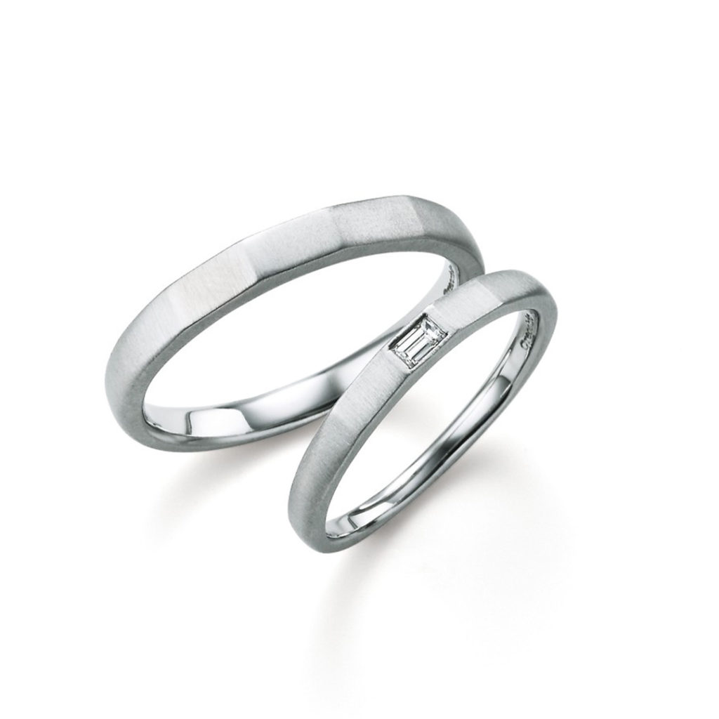 safari 結婚指輪 シンプル 個性派 ストレート プラチナ