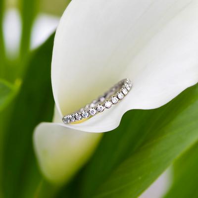 SARAS 婚約指輪 シンプル エレガント S字(ウェーブ) ジルコニウム