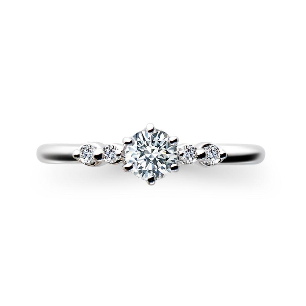 Scintillement 婚約指輪 シンプル エレガント  プラチナ