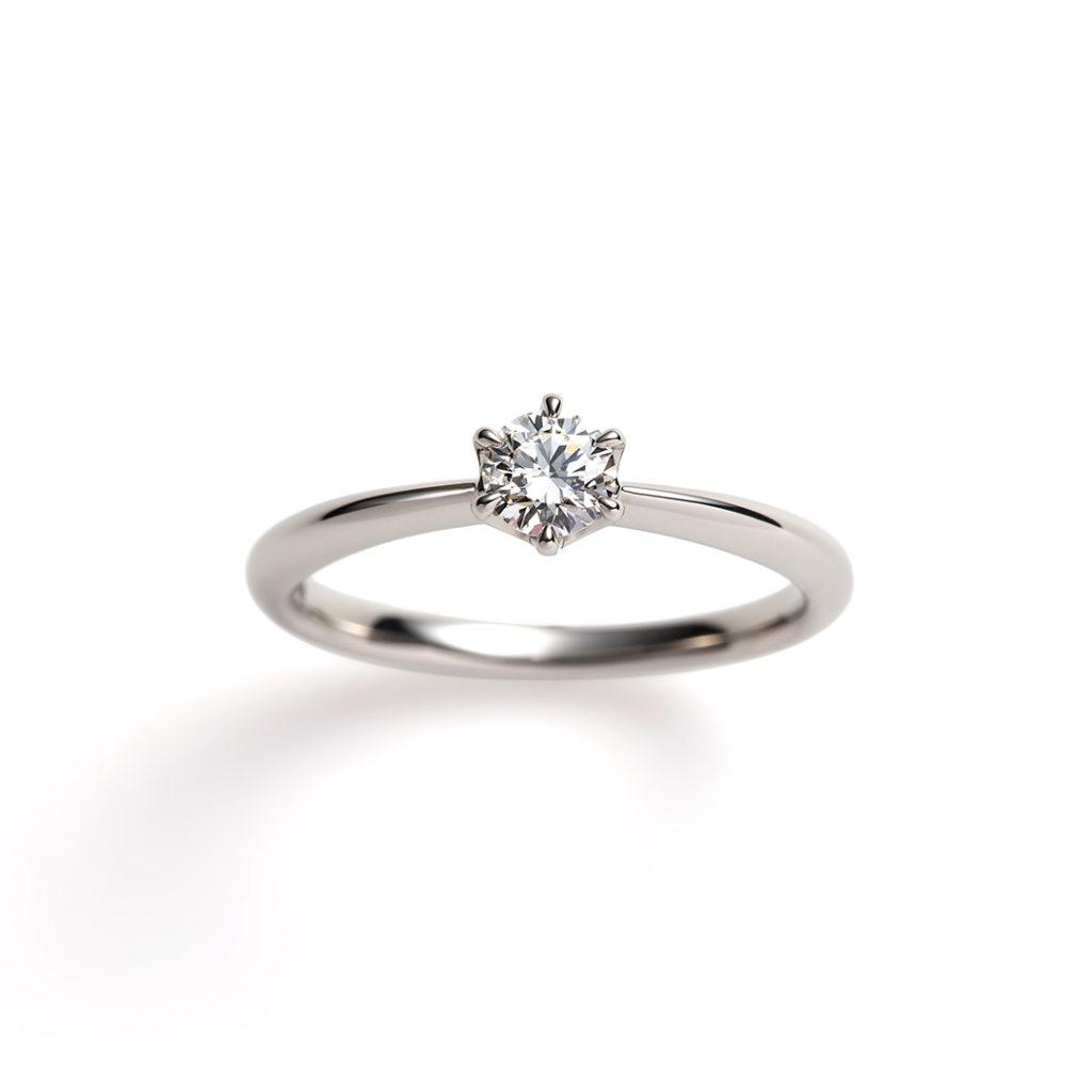 seed 婚約指輪 シンプル ストレート プラチナ